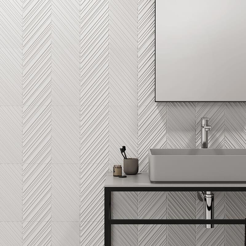 3d texture feature wall tile bathroom shower toronto