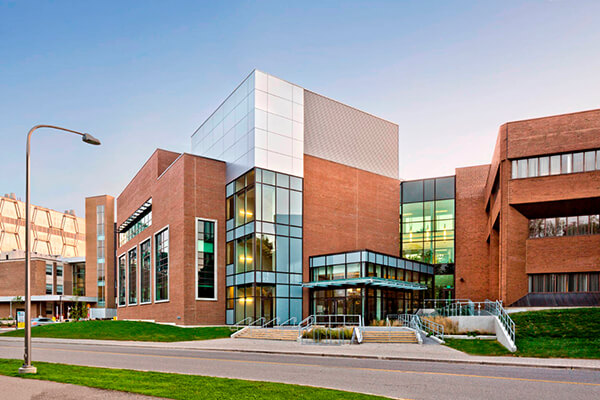 Architectual project Waterloo University Needles Building tiles with Holten Impex Ontario Canada