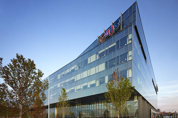 Architectural project corus entertainment tiles with Holten Impex Ontario Canada