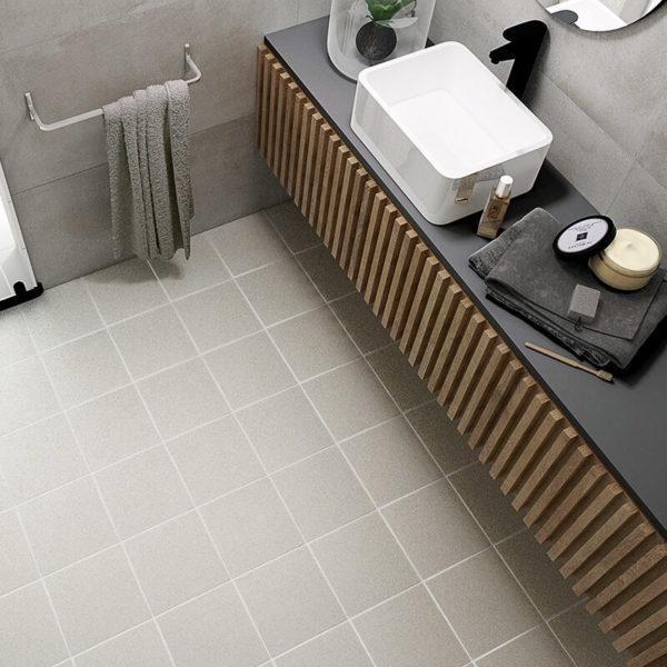 plain grey bathroom shower wall tile floor toronto ontario
