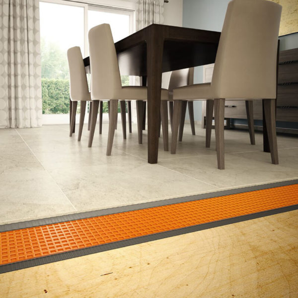 Ditra uncoupling membrane with Holten Impex waterproofing