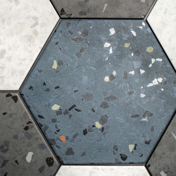 Hexagon kitchen backsplash accent wall tile floor toronto ontario canada
