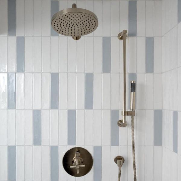 and Acqua white blue bathroom shower accent wall tile decor toronto ontario