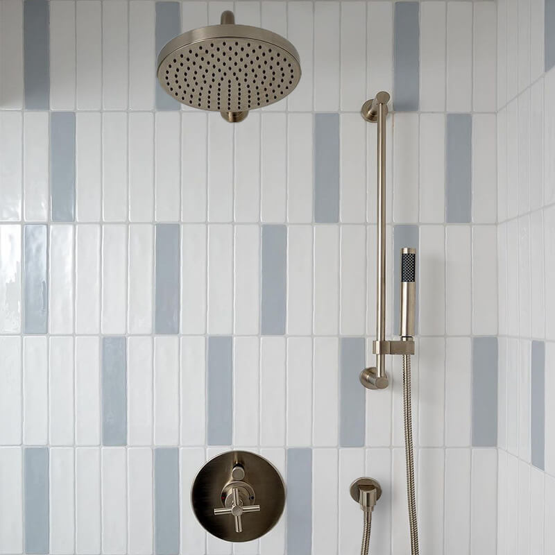 and Acqua white blue bathroom shower accent wall tile decor toronto ontario