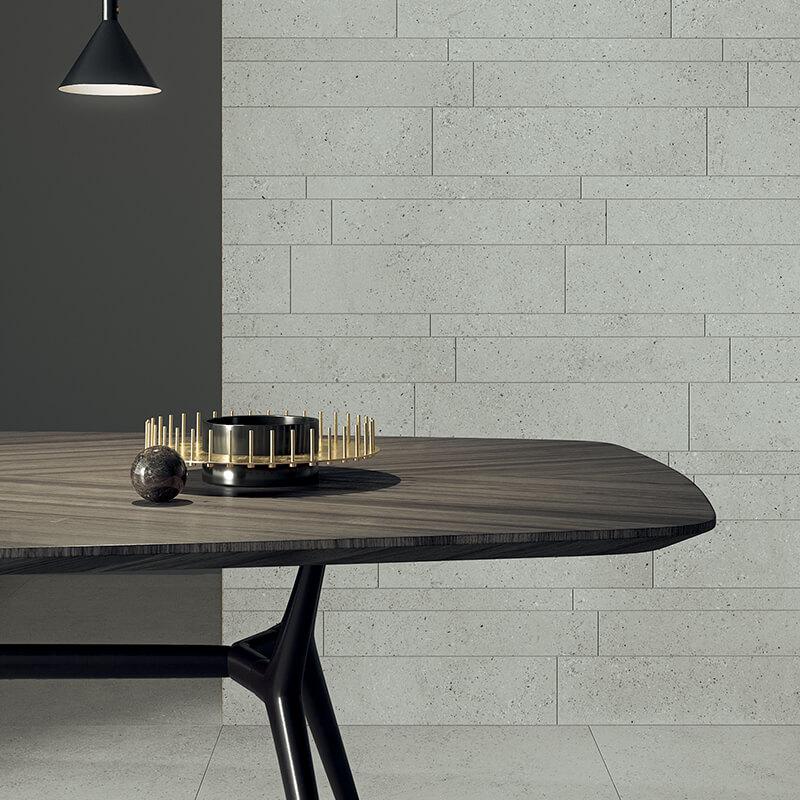 Room grey speckled terrazzo stone wall tile floor bathroom shower kitchen backsplash ontario canada