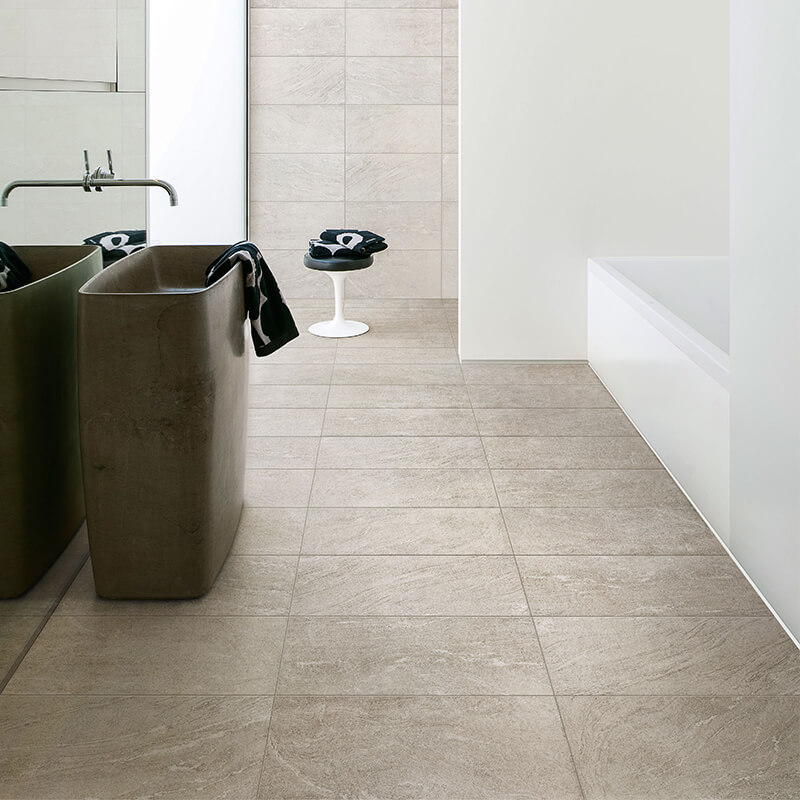 white stone wall tile floor bathroom shower ontario canada