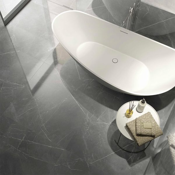 Storm Gris grey marble slab stone wall tile floor toronto bathroom shower canada