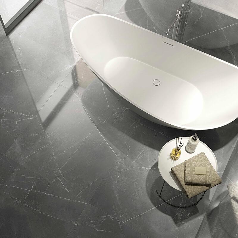 Storm Gris grey marble slab stone wall tile floor toronto bathroom shower canada