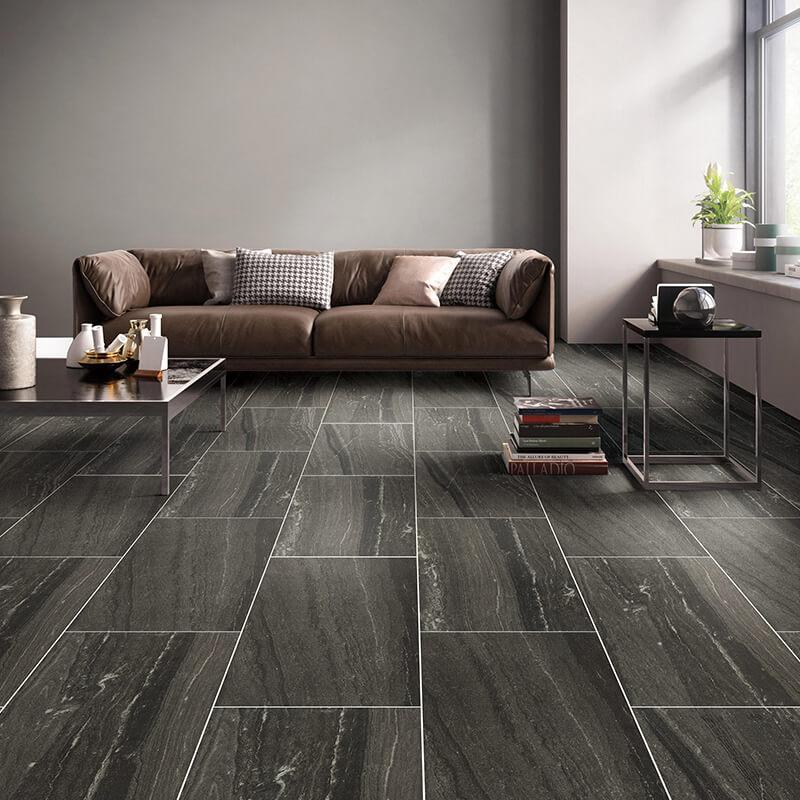 black stone wall tile floor kitchen backsplash ontario