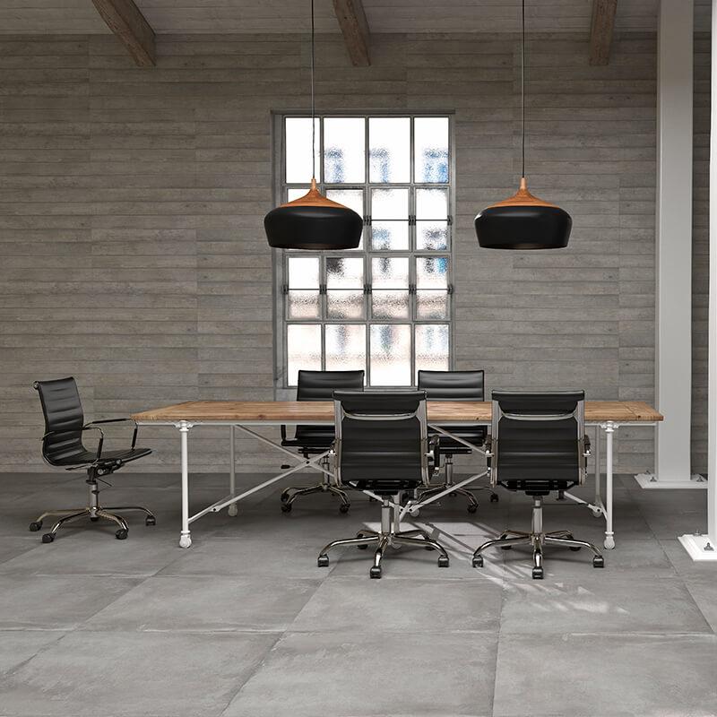 grey cement accent wall tile floor kitchen backsplash toronto ontario