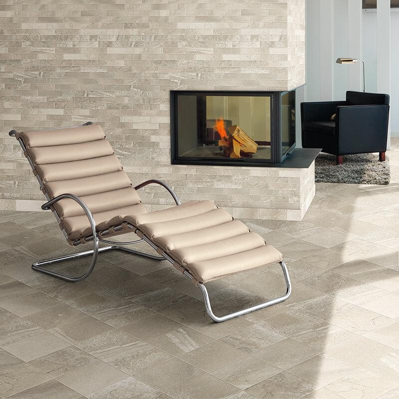 grey stone brick accent wall tile floor kitchen backsplash toronto