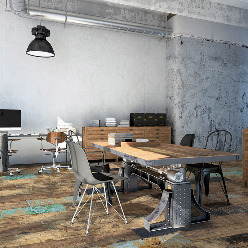 vintage rustic shabby chic wood wall tile floor ontario kitchen backsplash canada