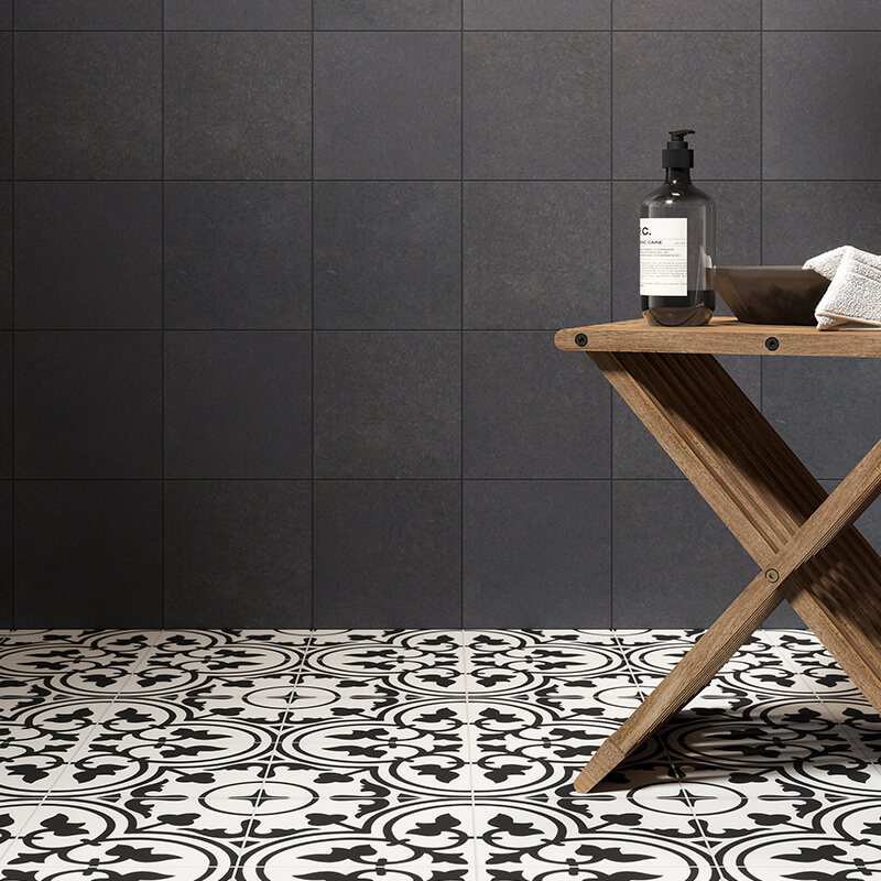 reverie 1 encaustic decor pattern accent wall tile floor bathroom shower toronto canada