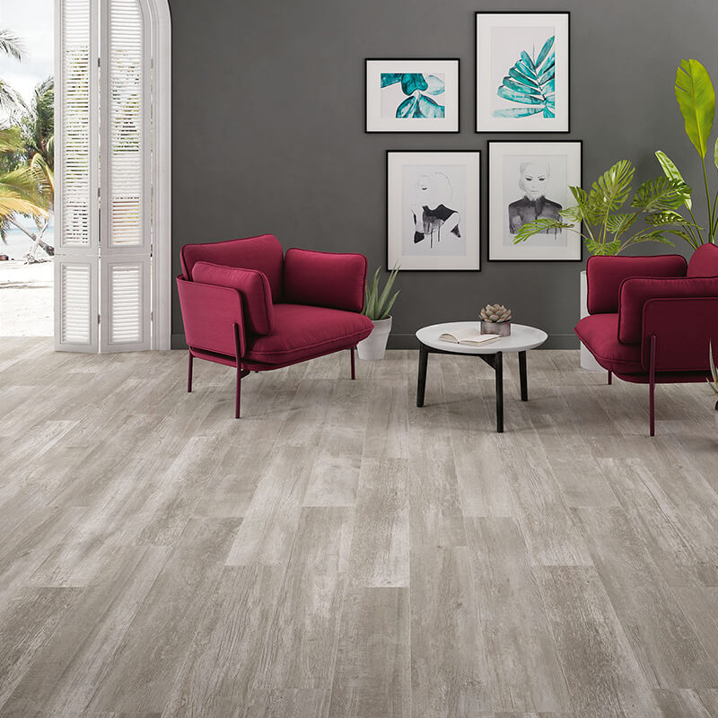 rustic grey wood floor italian tile bathroom kitchen toronto