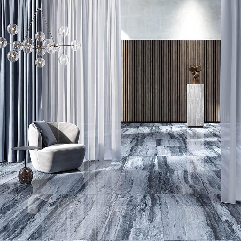 sky azur blue marble stone wall tile floor kitchen bathroom toronto canada